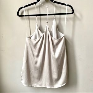 New lush taupe sleeveless T-strap tank top